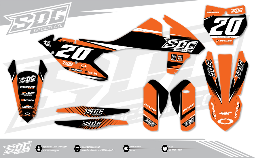 KTM - SDG Design  - Orange / Black