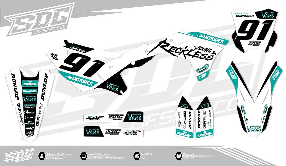 Kawasaki - Y&R - White / Turquoise