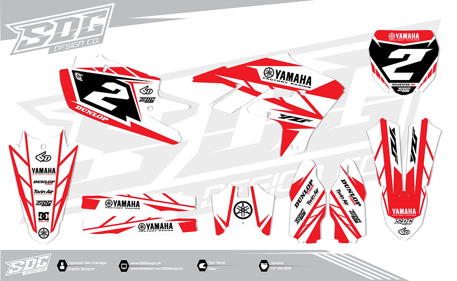 Yamaha - Stock - White/Red