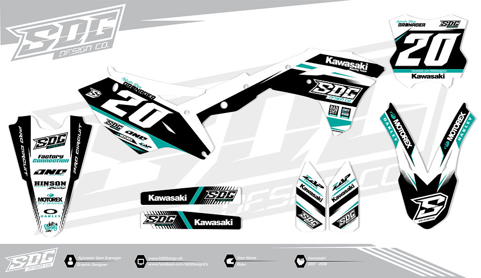 Kawasaki - SDG Design 1 - White / Turquoise