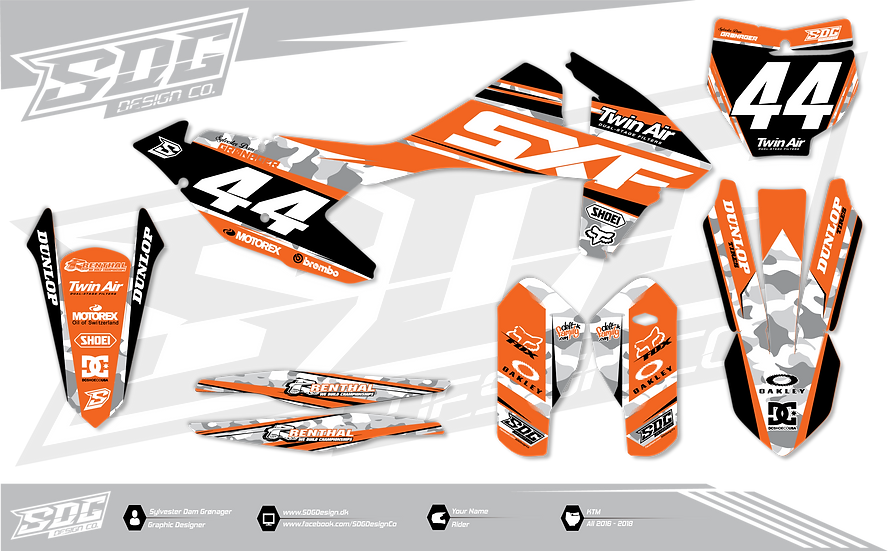 KTM - Camo - White