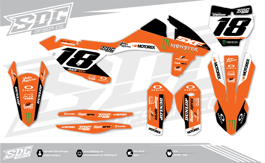 KTM - Monster Energy - Orange