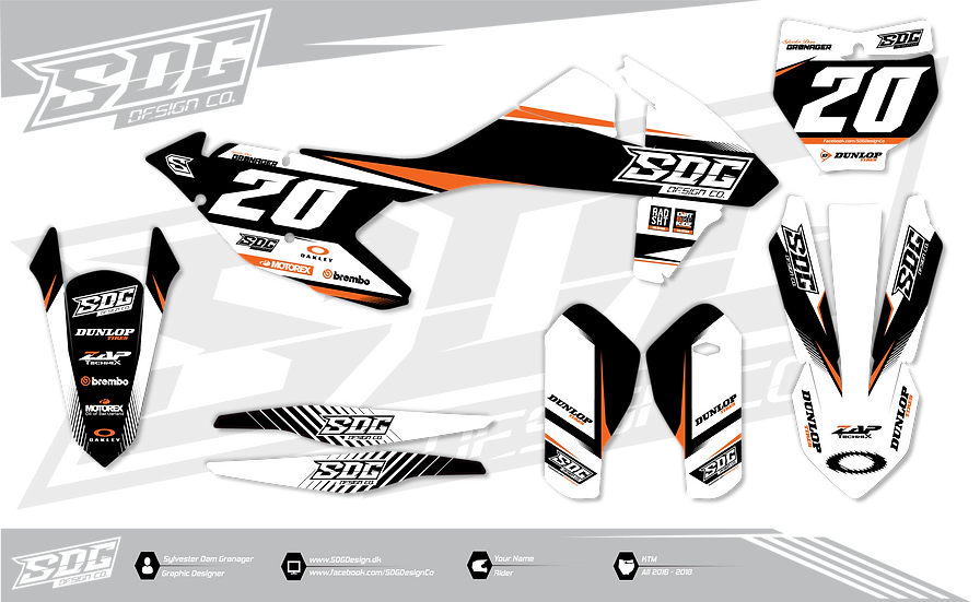KTM - SDG Design Black - White - Orange