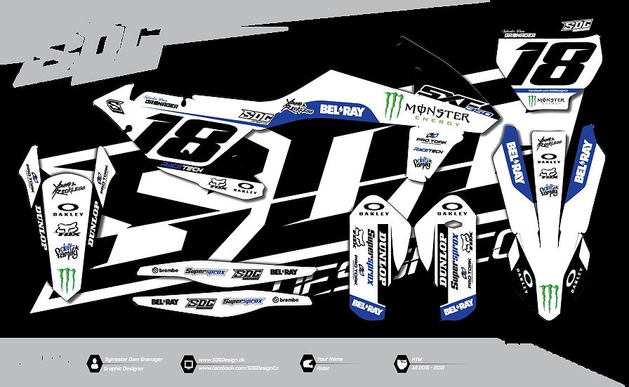 KTM - Monster Energy - White / Blue