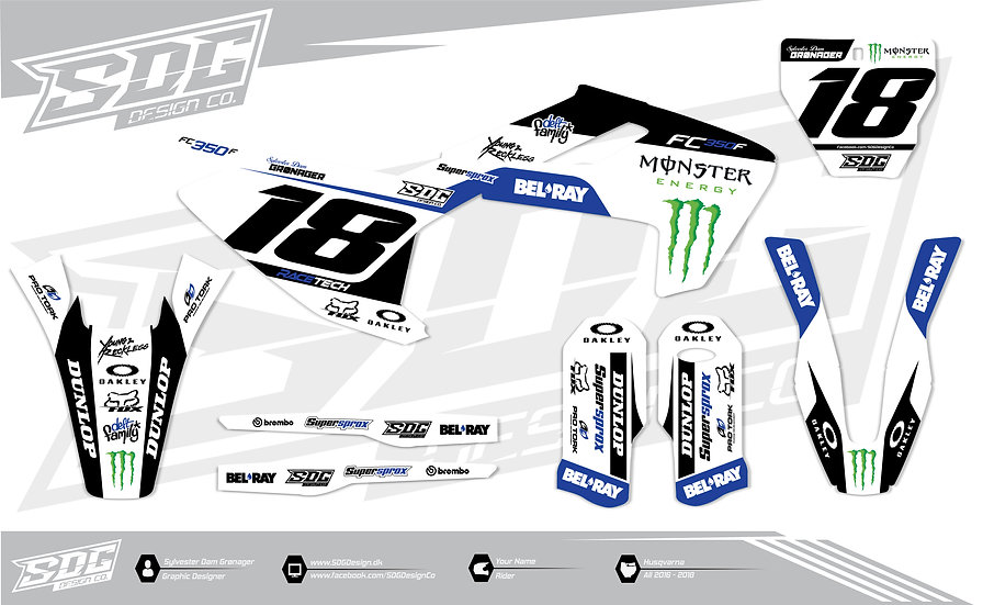 Husqvarna - Monster Energy/Bel Ray - White