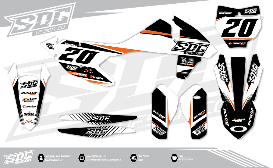 KTM - SDG Design White - Black - Orange