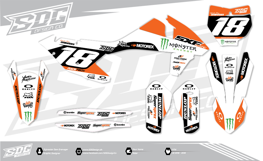 KTM - Monster Energy - White / Orange