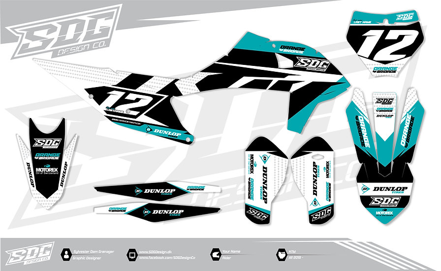 KTM -'Stock' - Turquoise