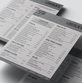 Ullesthorpe Court Hotel - Menu Design.jp