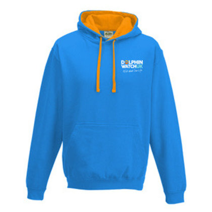 Adults Classic Blue and Orange Dolphin Watch UK Hoody