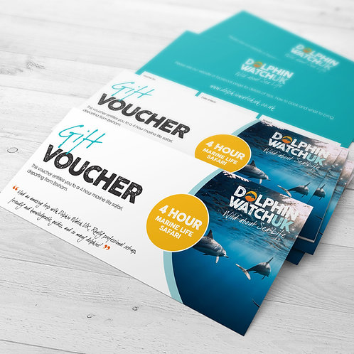4 Hour Dolphin Watch UK Trip Voucher