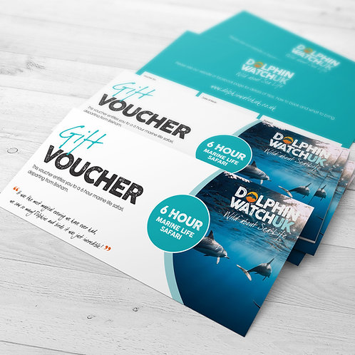 6 Hour Dolphin Watch UK Trip Voucher