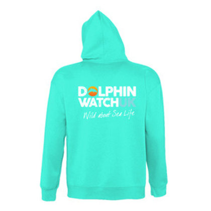 Adults Unisex Turquoise Blue Dolphin Watch Branded Hoodies