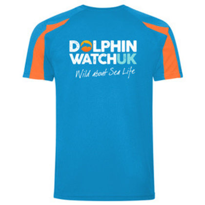 Kids AWD is Cool Contrast Sapphire Blue and Orange Crush T-Shirt