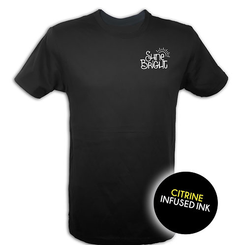 Shine Bright   Citrine infused ink   Tshirt   Real Citrine