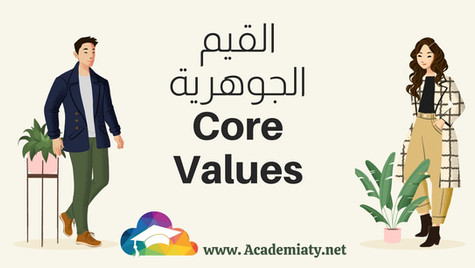 قائمة القيم الجوهرية بحسب التسلسل الأبجدي