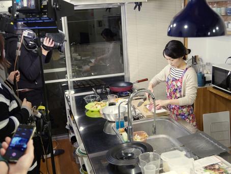 イブアイ静岡で料理ロケ