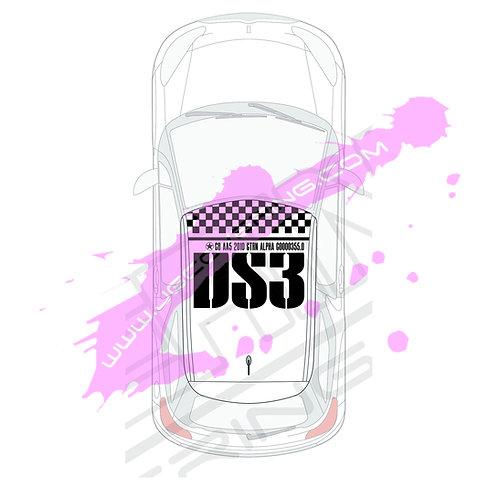 STICKERS DE TOIT DS3 RACING C00 a55