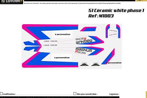 KIT adaptable  MBK MAGNUM CERAMIC WHITE PHASE 1