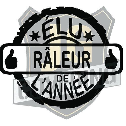 ÉLU RALEUR DE L'ANNÉE