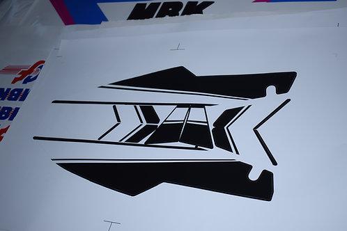 KIT MBK 51ROCK noir et blanc