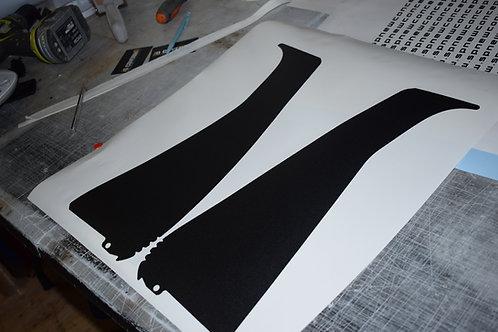 MONTANT DE PORTE DS3 forme idem origine  (la paire) noir granuleux