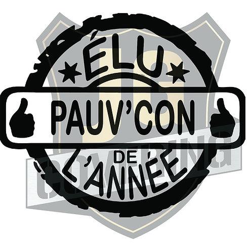 ÉLU PAUV'CON DE L'ANNÉE