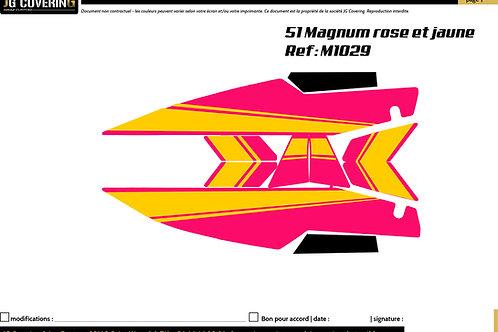 KIT adaptable 51 MAGNUM rose et JAUNE
