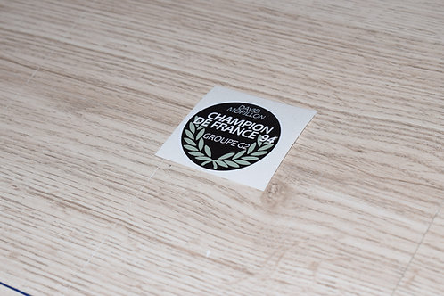 STICKERS DAVID MORILLON CHAMPION rond 5cm