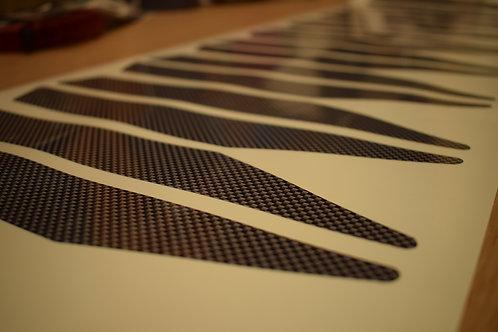 stickers carbone carter magnum XR (sans resine)
