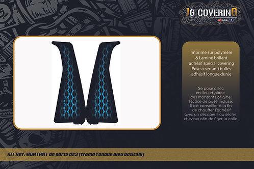 Montants de porte DS3 (Trame DS Bleu Boticelli)