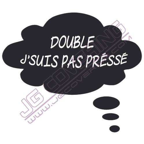 DOUBLE J'SUIS PAS PRESSE