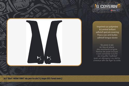 Montants de porte DS3 (Logo DS fond noir)