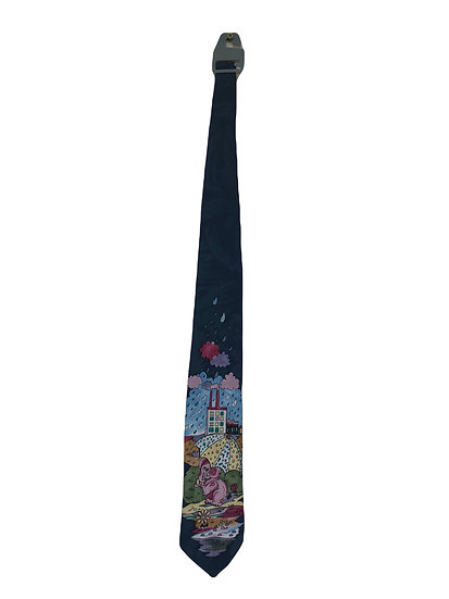 Vintage Krawatte mit Druck