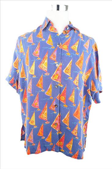 """Segeln auf dem Meer"" - Blaue Bluse"