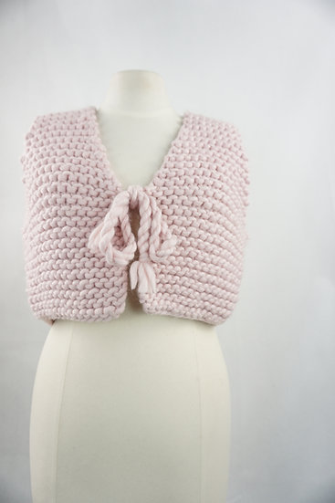 """""""Einmalig!"""" - Handgemachte rosa Weste"""