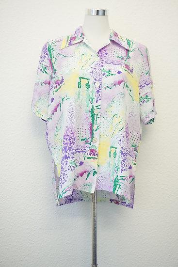 """Abstract Art"" - buntes Hemd"