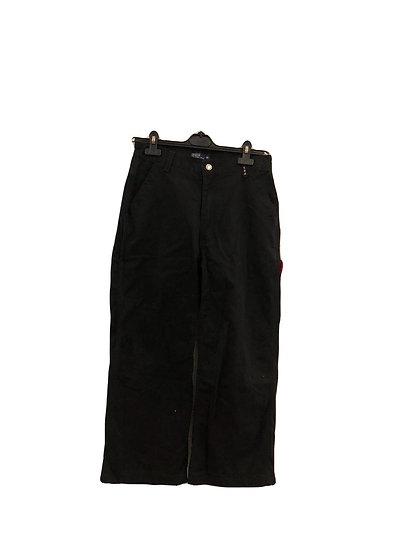 Schwarze Polo Jeans Hose 3/4 Länge