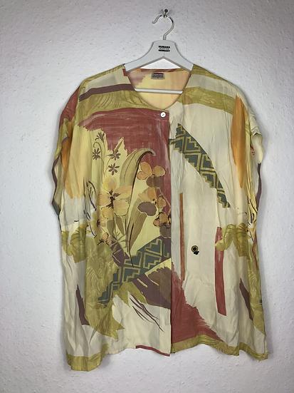 Vintage Bluse gelb/orange/rot