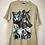 Thumbnail: Beige T-Shirt mit Wolfenmotiv