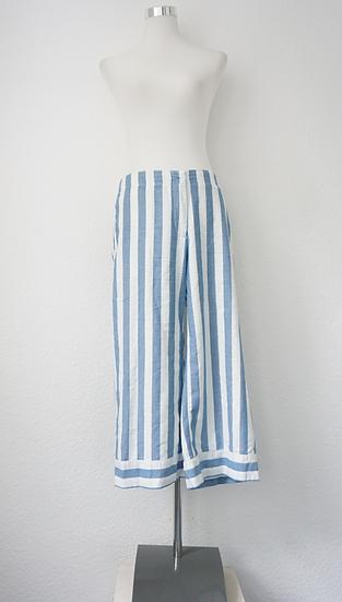 """""""Maritim"""" - Weiße Hose mit blauen Streifen"""