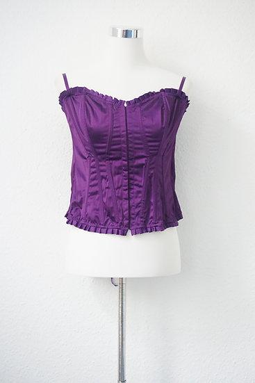 """""""Burlesque"""" -Corsage mit Rüschen Violet"""