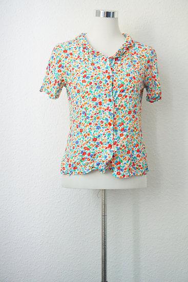 """""""Blumengarten"""" - bunte Vintage Bluse"""
