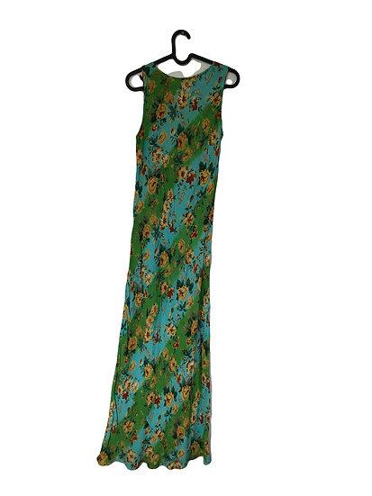 Mehrfarbiges Kleid mit Blumen