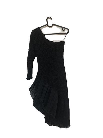 Schwarzes Partykleid, crepe