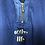 "Thumbnail: Blaues Vintage T-Shirt ""Active Life"" mit Reissverschluss"