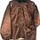 Thumbnail: Kupferfarbene Vintage Jacke mit Kunstpelz