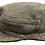 Thumbnail: Wollmütze mit Fischgrätenmuster braun/beige