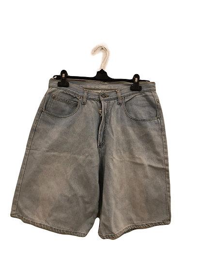 Hellblaue Jeans Hose kurz