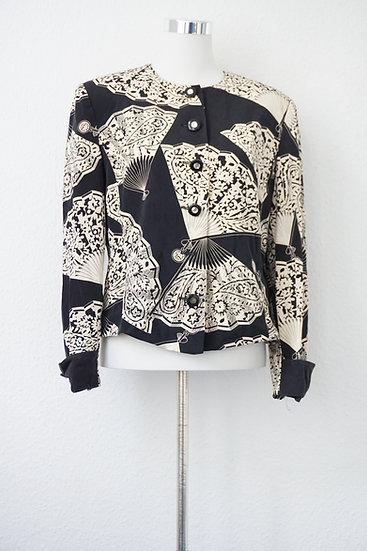 """""""Fecher"""" - Schwarze Jacke mit weißen Druck"""
